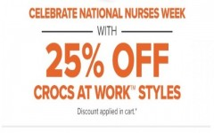 Coupon for: Crocs Canada Sale: 25% off Work styles + Selected style at special prices