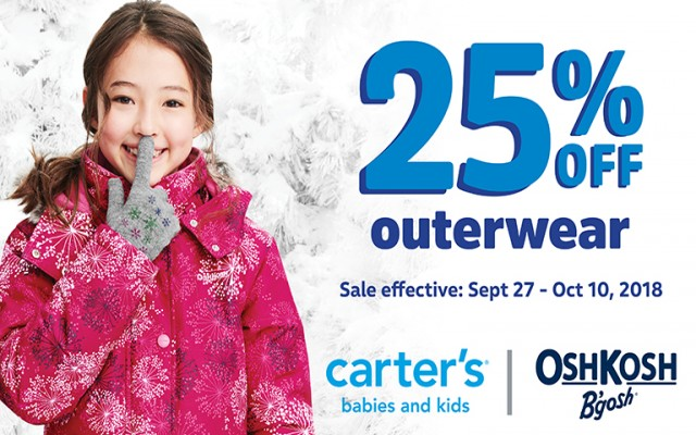 Coupon for: CARTER'S | OSHKOSH - Cozy up to winter at Quartier DIX30
