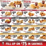 Coupon for: KFC in British Columbia and Ontario - Fill up on 75$ in savings