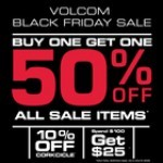 Coupon for: VOLCOM at CF Polo Park shopping centre  - BLACK FRIDAY WEEKEND EXTENDED!!