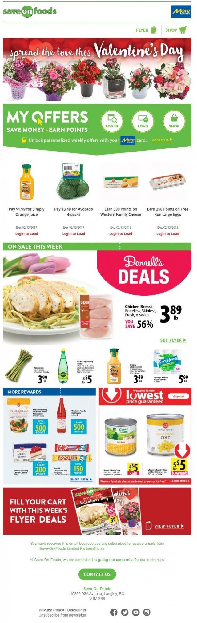 Coupon for: Save on foods - spread the love this Vlaentine's Day