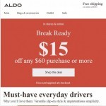 Coupon for: Aldo - The coolest drivers to wear with everything you own