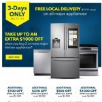 Coupon for: Best Buy - Don't wait, 3 Days Only - Free Local Delivery on major appliances