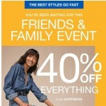 Coupon for: Gap - Hi there! 40% off EVERYTHING just announced