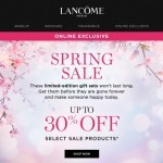 Coupon for: Lancôme - Up to 30% OFF your favourite gift sets.