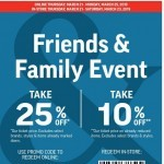 Coupon for: Sport Chek - Friends & Family Event On Now! Take 25% Off