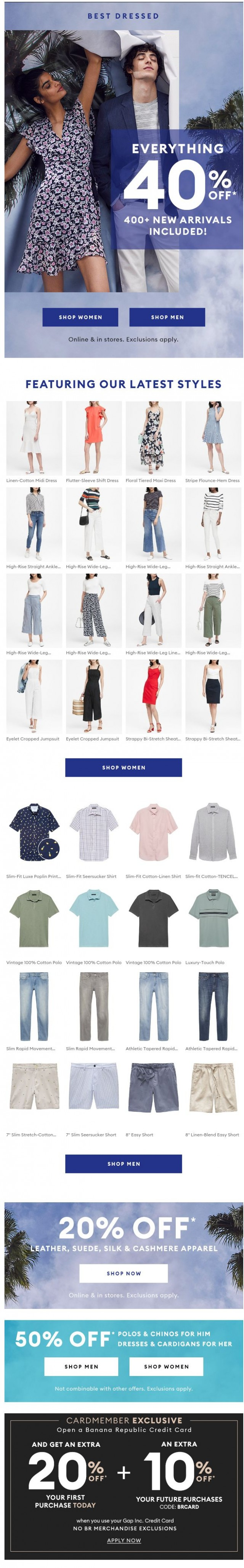 Coupon for: Banana Republic - 40% OFF EVERYTHING