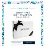 Coupon for: Biotherm Canada - Get free wrapping