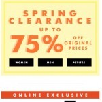 Coupon for: Banana Republic Factory - 3 DAYS ONLY