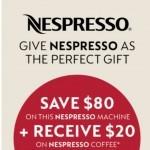 Coupon for: Kitchen Stuff Plus - $80 Off Nespresso Machines!