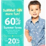 Coupon for: carter's -  60% off Tees, shorts, sets and more!