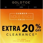 Coupon for: GOLDTOE - Styles Good For The Sole – Extra 20% Off