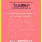 Coupon for: LOFT Outlet - 50% OFF + EXTRA 10% OFF! Our bday just got even better