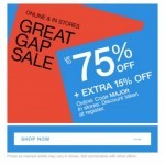 Coupon for: Gap - 75% 75% 75% 75% 75% 75%