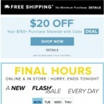Coupon for: Hudson's Bay - FINAL HOURS ⚡ FLASH SALE ⚡ Up to 70% OFF shoes