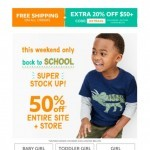 Coupon for: carter's  - Back to school SUPER STOCK UP!
