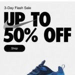Coupon for: Nike -  Up to 50% off—starts yesterday