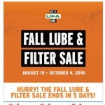 Coupon for: UFA - Lube & Filter Sale ends soon