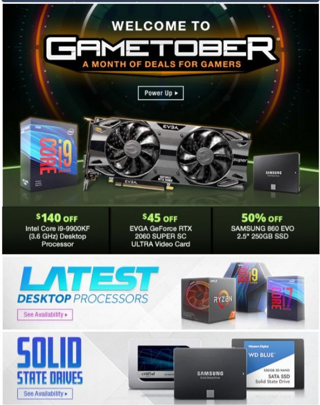 Coupon for: Newegg - Gametober is Here: 50% Off Samsung 860 EVO 250GB SSD
