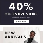 Coupon for: Banana Republic Factory Canada - 40% off entire store + new arrivals