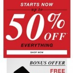 Coupon for: GUESS Factory Men - Up to 50% Off Store Starts NOW. For a limited time only