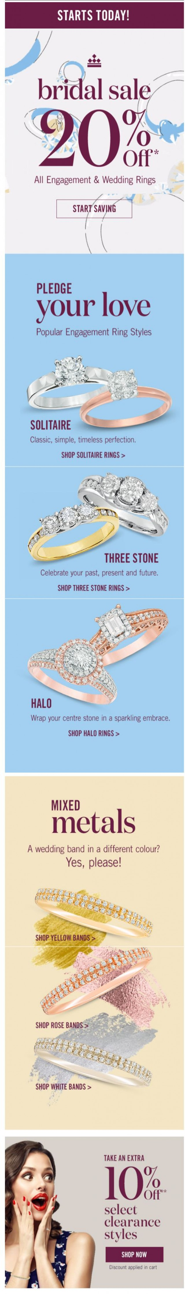 Coupon for: Peoples Jewellers - The Bridal Sale Starts NOW!