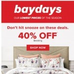 Coupon for: Hudson's Bay - Beat the BRRR: 60% OFF pillows & duvets + 40% OFF bedding & more