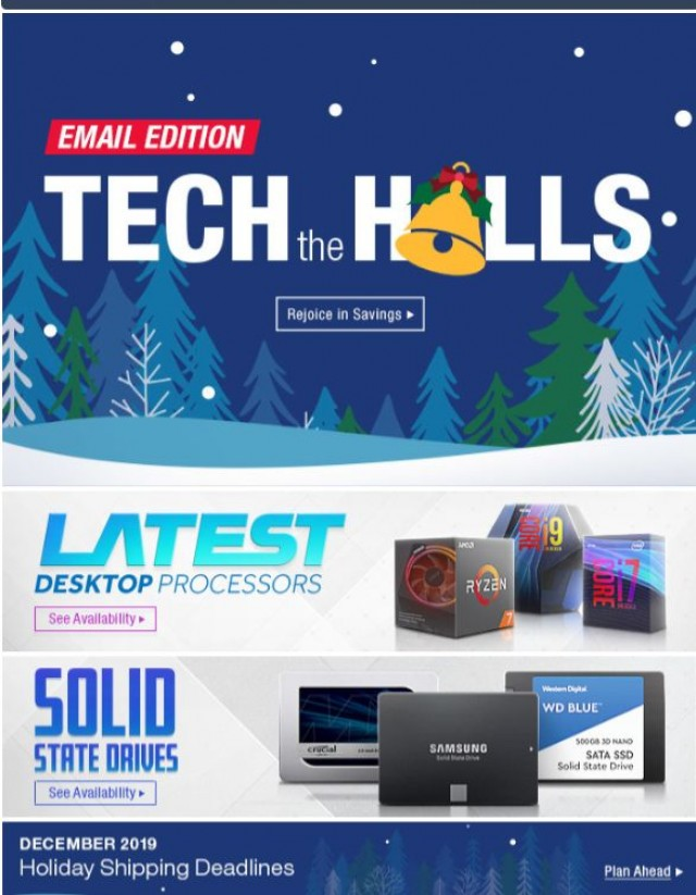 Coupon for: Newegg - Tech the Halls with Deals on Corsair Memory and WD Hard Drives