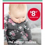 Coupon for: carter's - $8+ JAMMIES!