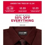 Coupon for: Express - 50% off 1MX & patterned dress shirts + Final Hours for FREE 2 Day Shipping