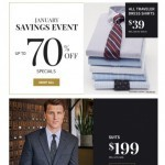 Coupon for: Jos. A. Bank - Here's Your Exclusive Invite to Our January Savings Event