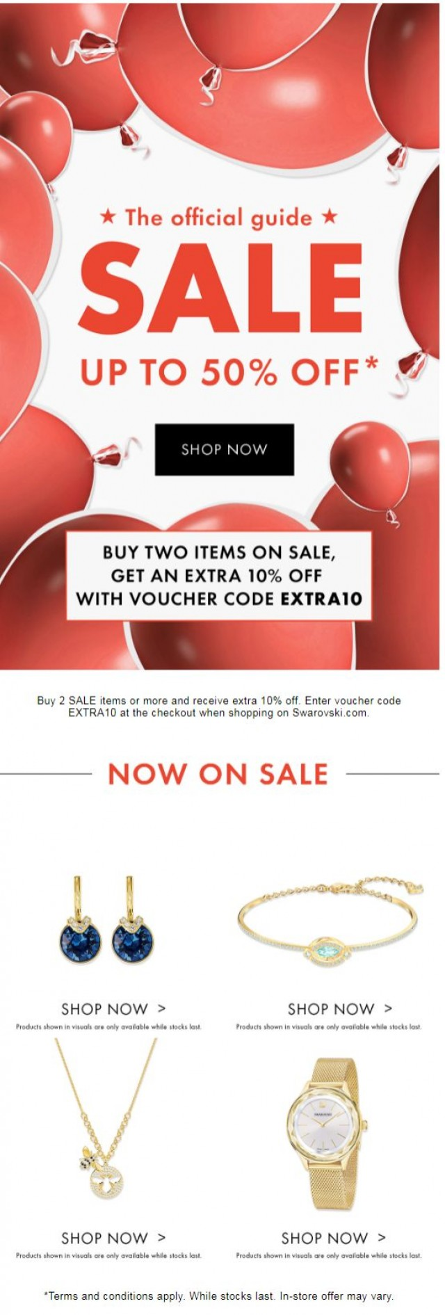 Coupon for: SWAROVSKI - Don't miss up to 50% off
