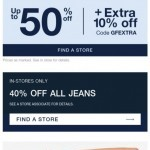 Coupon for: Gap Factory Canada - Up to 50% off EVERYTHING