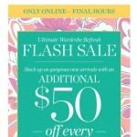 Coupon for: TALBOTS - FLASH SALE - $50 off every $200!