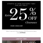 Coupon for: Victoria's Secret - Extra 25% OFF clearance starts tonight!