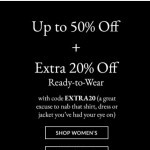 Coupon for: Coach - Up To 50% Off + Extra 20% Off Ready-To-Wear