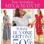 Coupon for: TALBOTS - TODAY! BUY ONE, GET ONE 50% OFF!