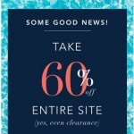 Coupon for: Nautica - 60% off everything!