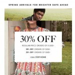 Coupon for: Neiman Marcus - Up to 30% off your spring style update