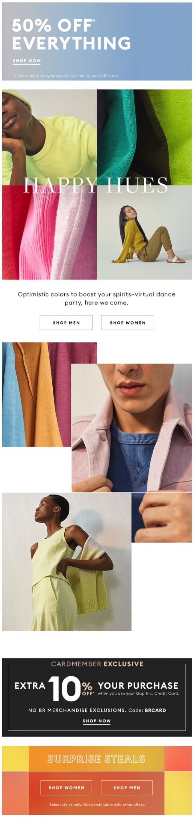 Coupon for: Banana Republic - These colors are instant mood lifters