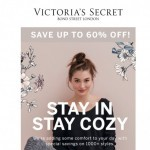 Coupon for: Victoria's Secret - Stay cozy & get up to 60% OFF