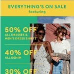 Coupon for: Banana Republic - Some good news: Everything's on sale!