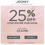 Coupon for: Jockey - Do you want 25% OFF