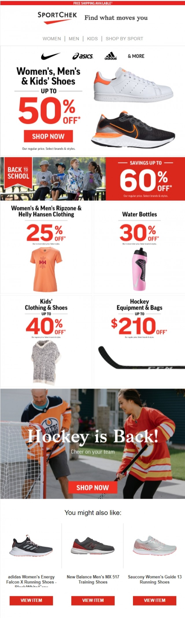 Coupon for: Sport Chek - Shoes On Sale & More Top Deals