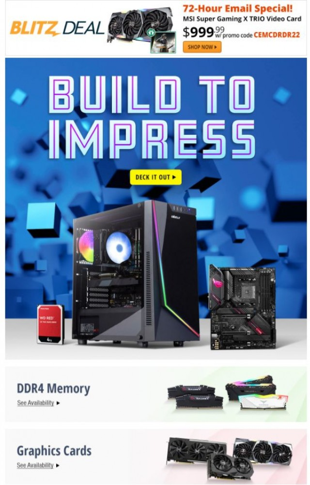 Coupon for: Newegg - 72Hr Exclusive! $999.99 MSI GeForce RTX 2080 GDDR6 Video Card
