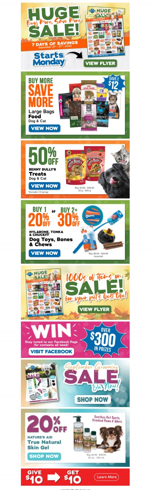 Coupon for: Ren's Pets - Huge Sale Starts Monday!