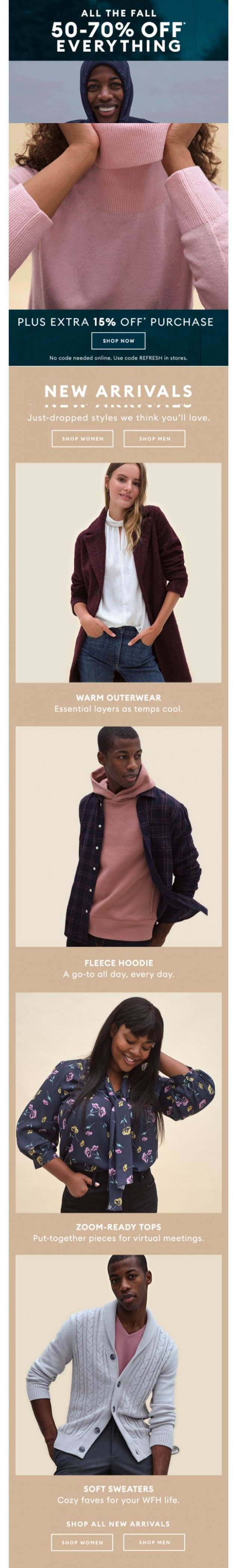Coupon for: Banana Republic Factory - 50-70% off everything STARTS NOW!