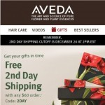 Coupon for: Aveda - Get it in time with Free 2nd Day Shipping
