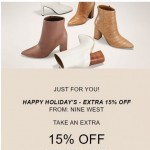 Coupon for: Nine West - Your Offer is Expiring